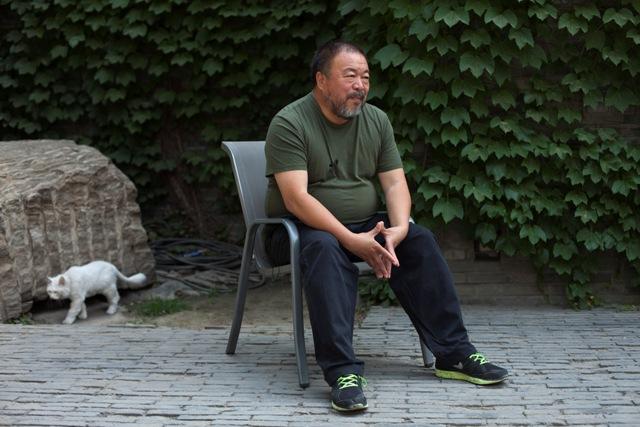 Na snímke čínsky disident Aj Wej-wej