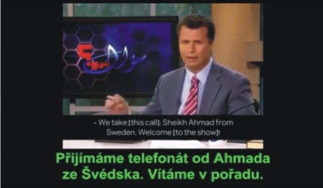 Švédsky moslim volá do televízie