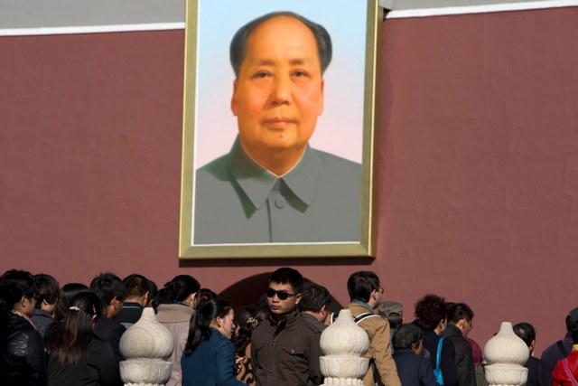 Na snímke portrét Mao Ce-tunga