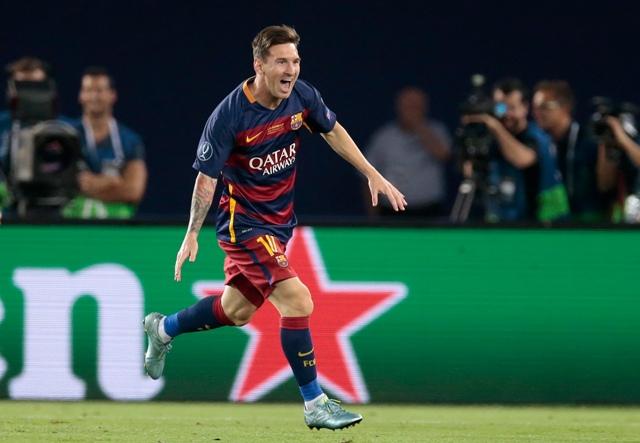 Na snímke hráč FC Barcelony Lionel Messi