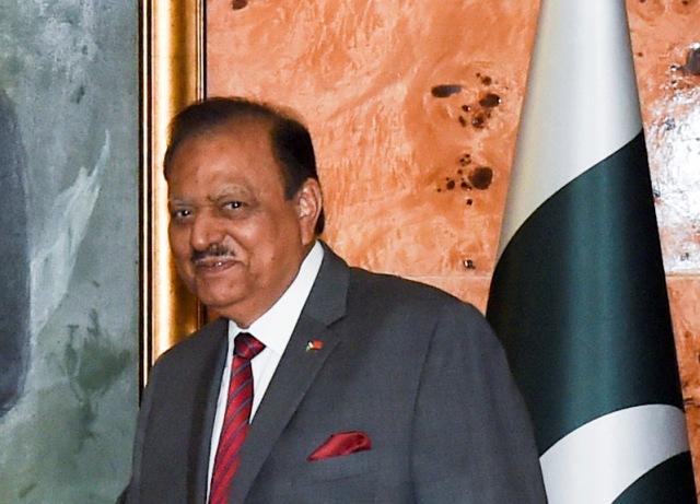Na snímke pakistanský prezident Mamnún Husajn