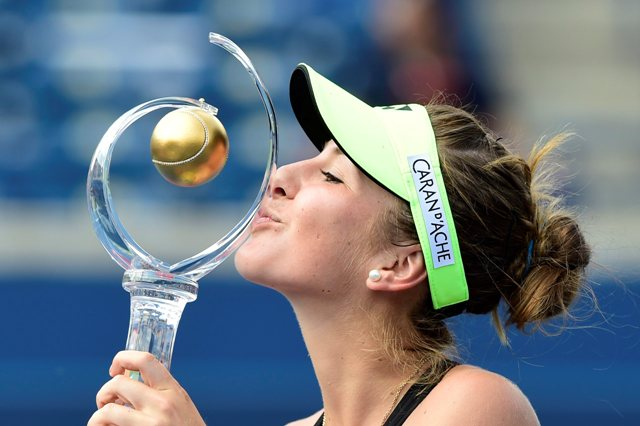 Na snímke švajčiarska tenistka so slovenskými koreňmi Belinda Bencicová