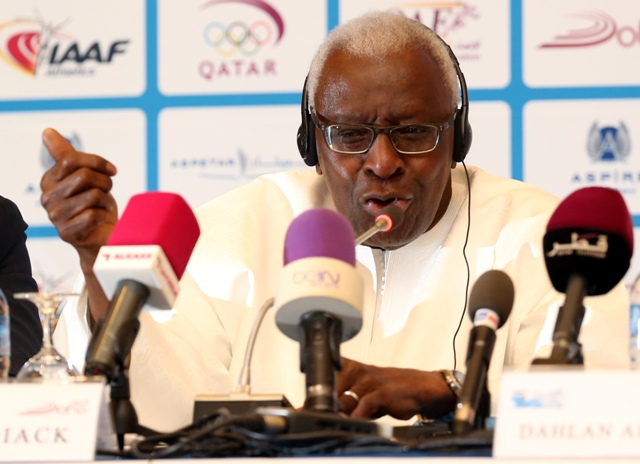 Na snímke prezident Medzinárodnej asociácie atletických federácií (IAAF) Lamine Diack