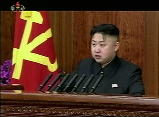 Na videosnímke severokórejský vodca Kim Čong-un