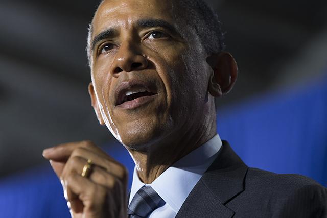 Na snímke americký prezident Barack Obama.