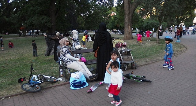 Arabi v teplickom parku
