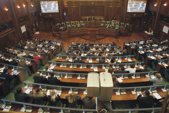 Na archívnej snímke kosovský parlament