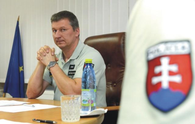 Na snímke riaditeľ KR PZ v Košiciach Juraj Leško