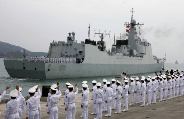 Čínska vojnová loď. Ilustračné foto