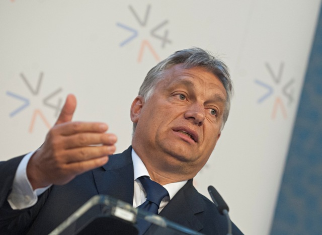 Na snímke premiér Maďarska Viktor Orbán