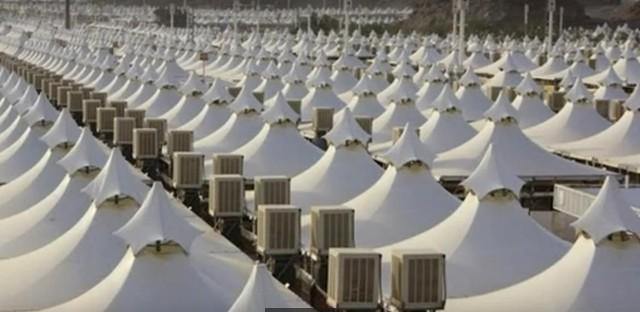 Tento stanový kemp vybudovaný v meste Mina je doposiaľ prázdny