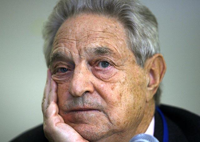Na snímke finančný analytik a miliardád George Soros.