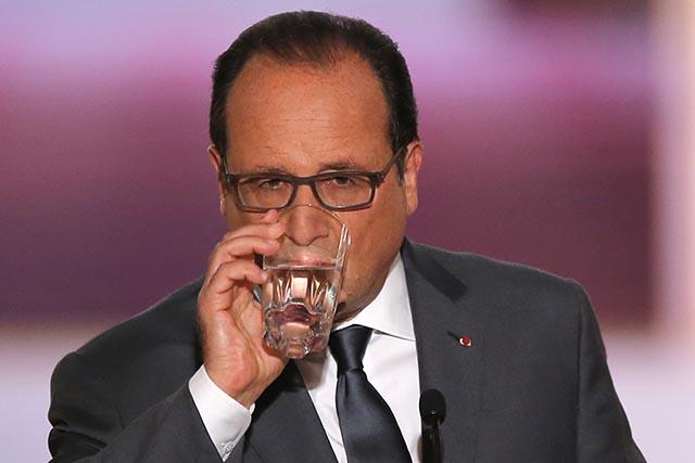 Na sníme francúzsky prezident Francois Hollande.