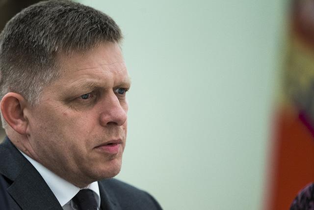 Na snímke slovenský premiér Robert Fico.