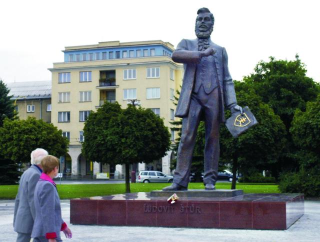 Socha Ľudovíta Štúra v Parku Ľ. Štúra v Žiline