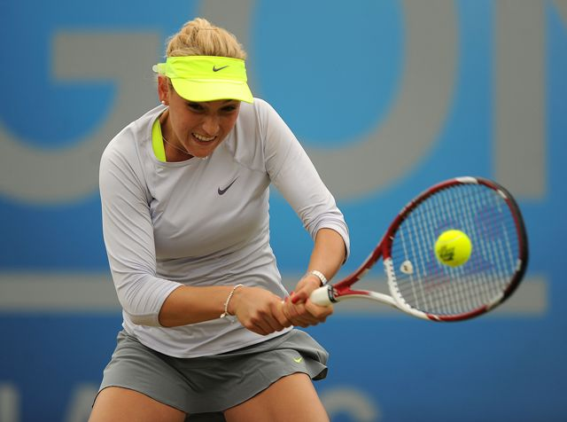 Na snímke chorvátska tenistka Donna Vekičová