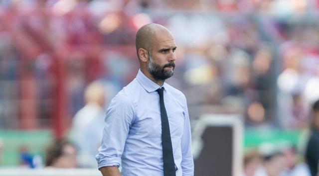 Na snímke španielsky tréner Bayernu Josep Guardiola