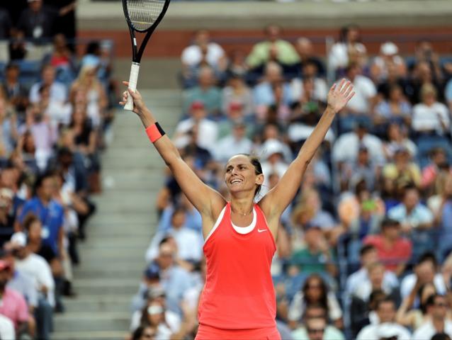 Na snímke talianska tenistka Roberta Vinciová