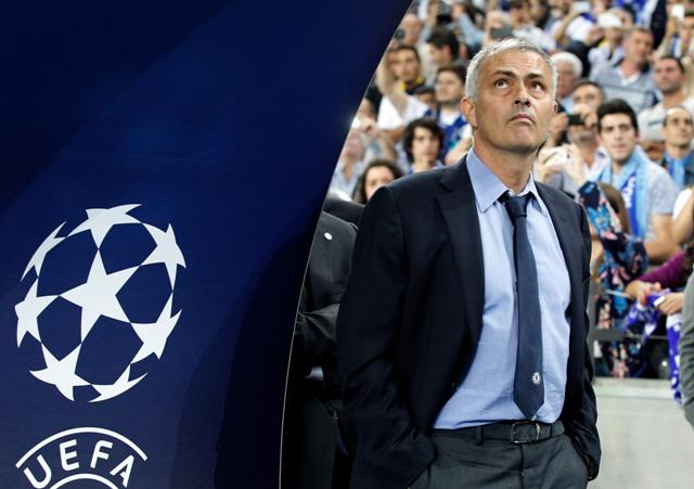 Na snímke tréner FC Chelsea José Mourinho