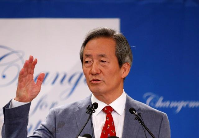 Na snímke Juhokórejčan Chung Mong-joon