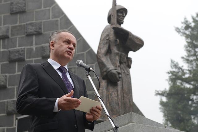 Na snímke prezident SR Andrej Kiska počas príhovoru