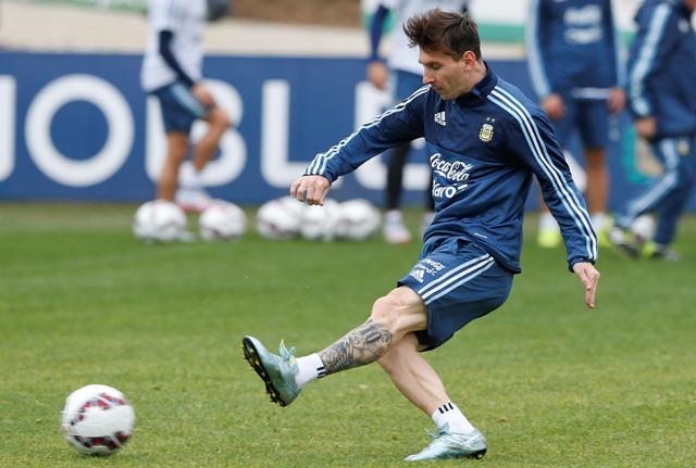 Na snímke argentínsky futbalový útočník Lionel Messi