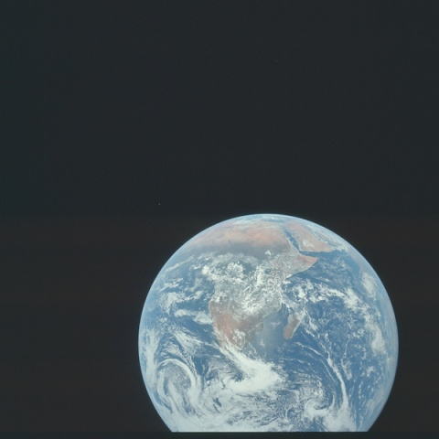 Pohľad na Zem z vesmíru. Ilustračné foto