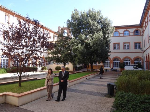 Nádvorie Katolíckeho inštitútu v Toulouse
