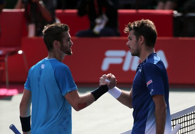 Na snímke švajčiarsky tenista Stanislas Wawrinka (vpravo)
