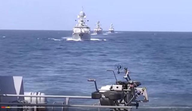 Ruský raketový útok z Kaspickej flotily