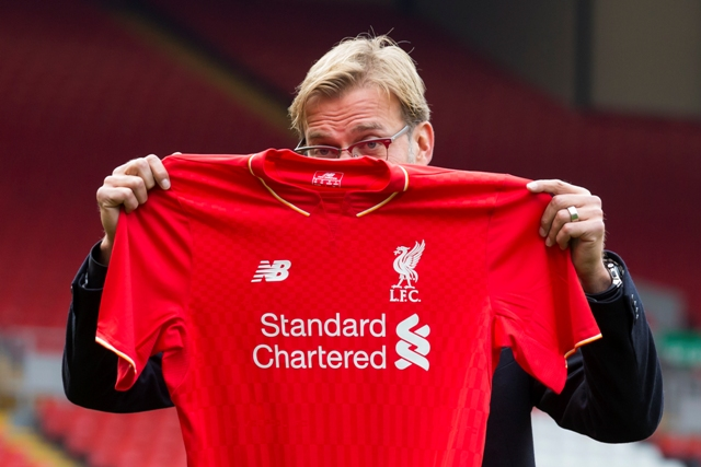 Na snímke nový tréner futbalistov FC Liverpool Jürgen Klopp