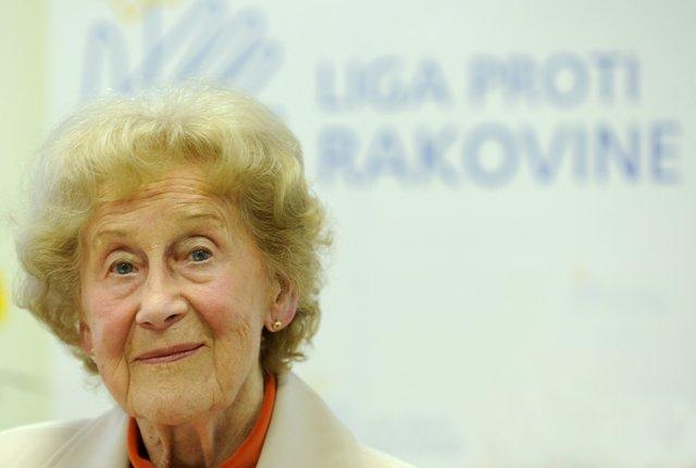 Na snímke prezidentka Ligy proti rakovine (LPR) Eva Siracká