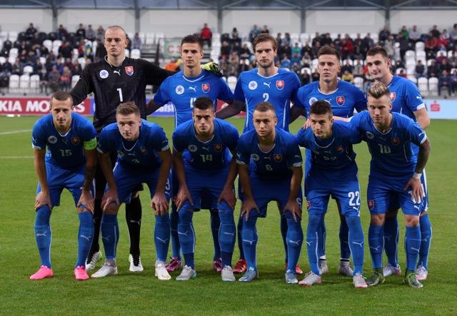 Na snímke slovenská futbalová reprezentácia do 21 rokov