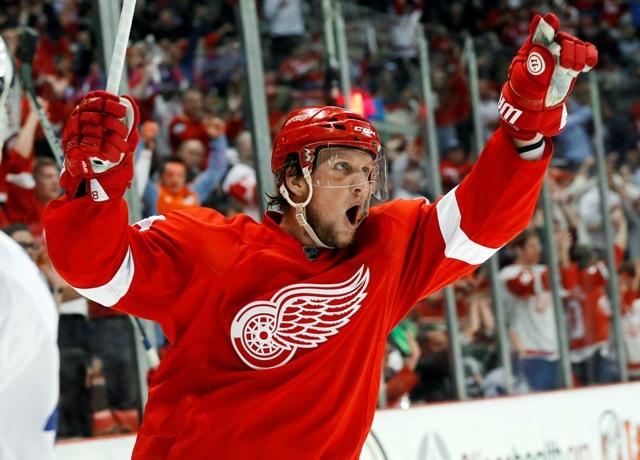 Na snímke hokejista Detroitu Red Wings Justin Abdelkader