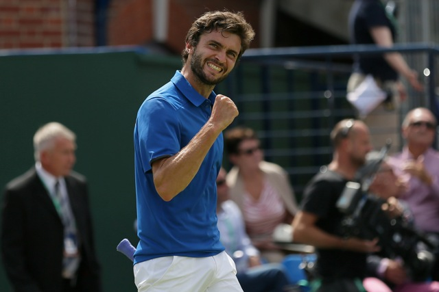 Na snímke francúzsky tenista Gilles Simon