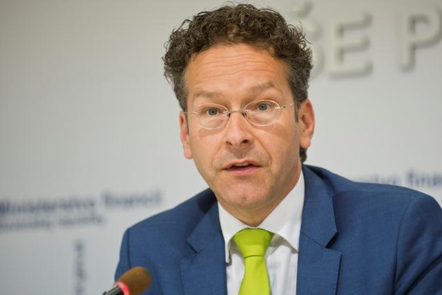 Na snímke holandský minister financií a prezident Euroskupiny Jeroen Dijsselbloem