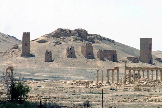 Na snímke zverejnenej sýrskou tlačovou agentúrou SANÁ, pohľad na hrad Palmýra v sýrskom meste Palmýra