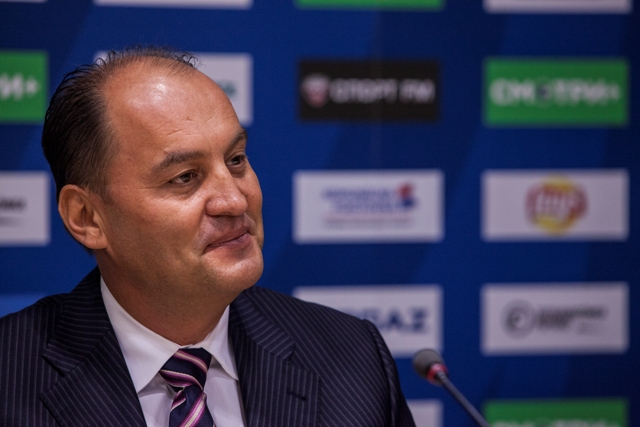 Na snímke generálny manažér Slovana Maroš Krajči
