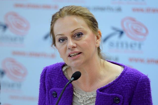 Na snímke Monika Flašíková Beňová, poslankyňa Európskeho parlamentu