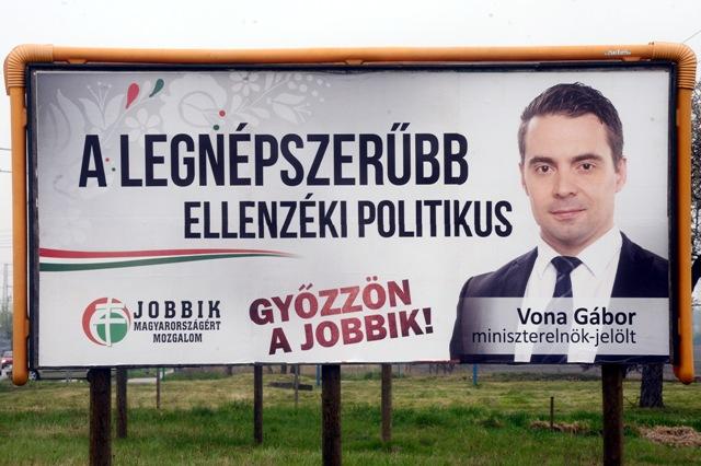 Na snímke volebný bilbord Jobbiku