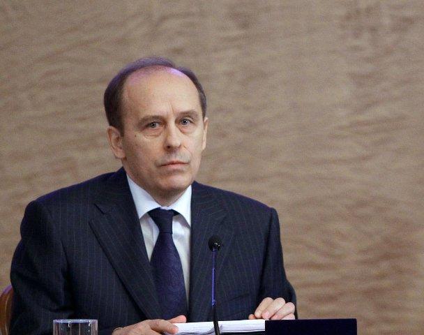 Na snímke riaditeľ ruskej Federálnej bezpečnostnej služby (FSB) Alexandr Bortnikov