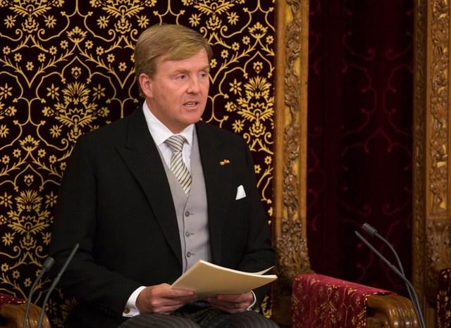 Na snímke holandský kráľ Viliam Alexander
