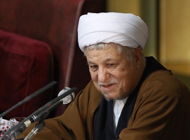 Na snímke bývalý iránsky prezident Akbar Hášemí Rafsandžání