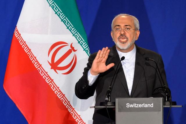 Na snímke iránsky minister zahraničných vecí Mohammad Džavád Zaríf
