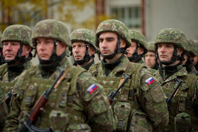 Na snímke vyčlenená vojenská jednotka