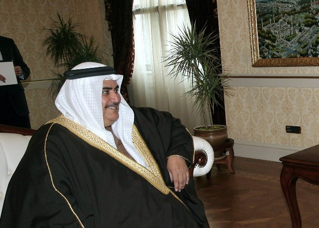 Na snímke bahrajnský šéf diplomacie Chálid bin Ahmad Al-Chalífa