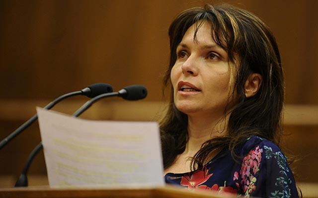 Na snímke opozičná poslankyňa Helena Mezenská.