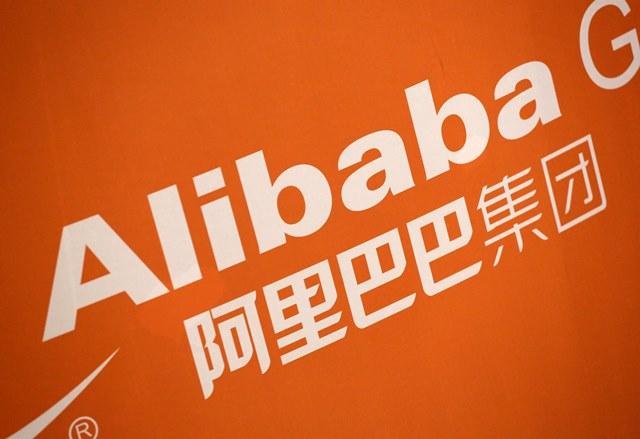 Na snímke logo čínskeho obchodového internetu Alibaba v New Yorku