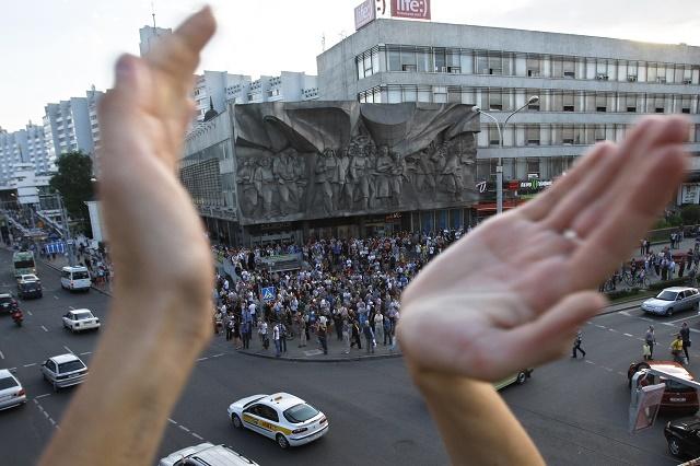 Ilustračné foto jeden z demonštrácií v uliciach hlavného mesta Minsk
