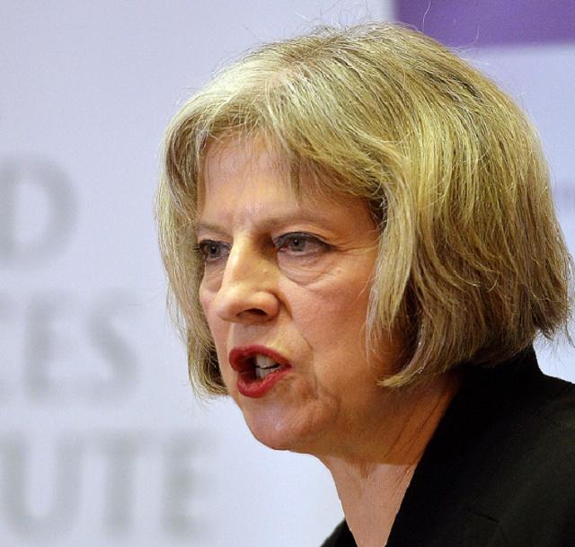 Britská ministerka vnútra Theresa Mayová